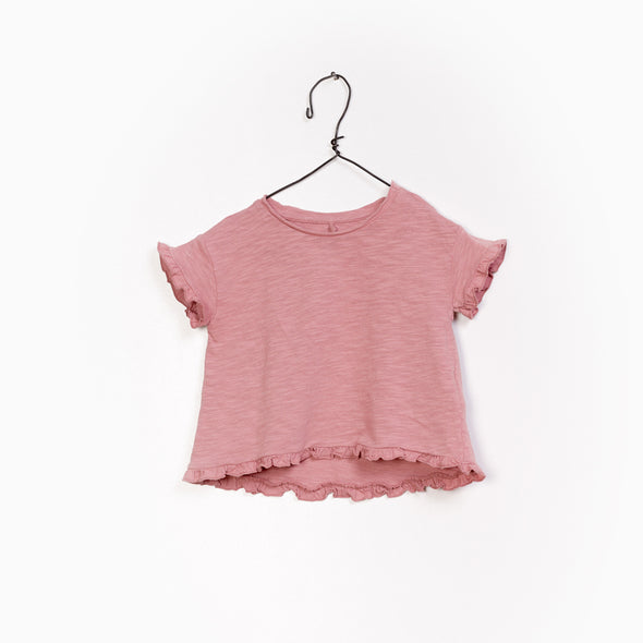 Jersey T-Shirt - Rosa - Play Up - OrganicFootsteps