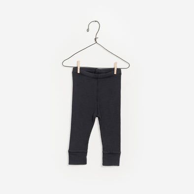 Rib Leggings - Mørkegrå - Play Up - OrganicFootsteps