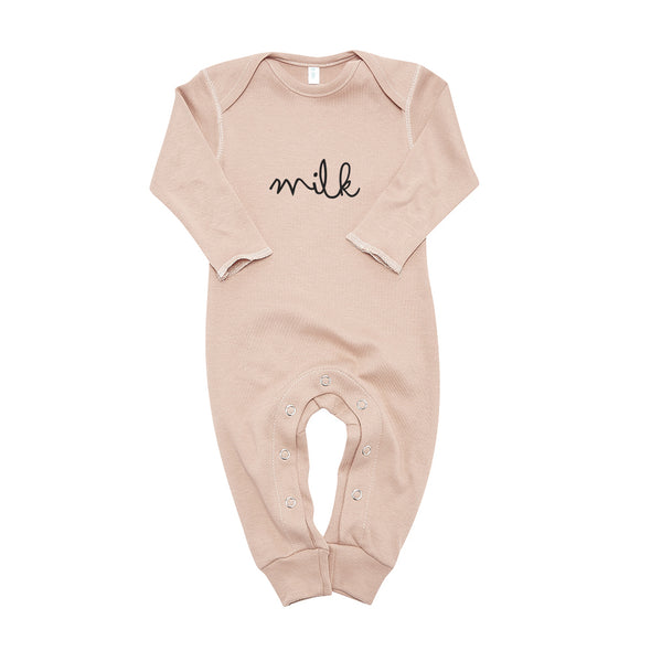 Clay MILK Playsuit - Organic Zoo - OrganicFootsteps