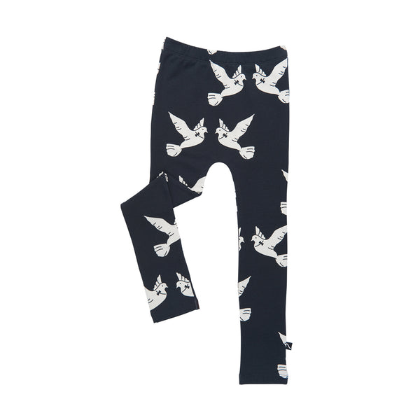 Love Bird Leggings - Sort/Hvid - Carlijn Q - OrganicFootsteps