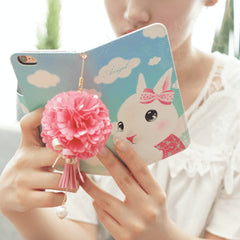 Full Set: Angel Hand Made Wallet Case + Blossoming Hand Strap - JessicaCollection