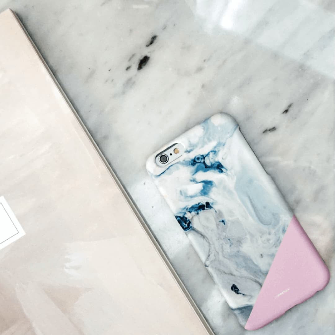 Deep in Pink Marble Effect Back Phone Case (UN-1717) - KoreaHallyu