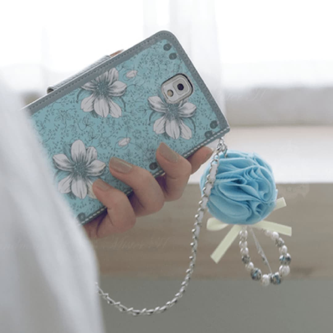 Garden Age Hand Made Wallet Case - Blue
