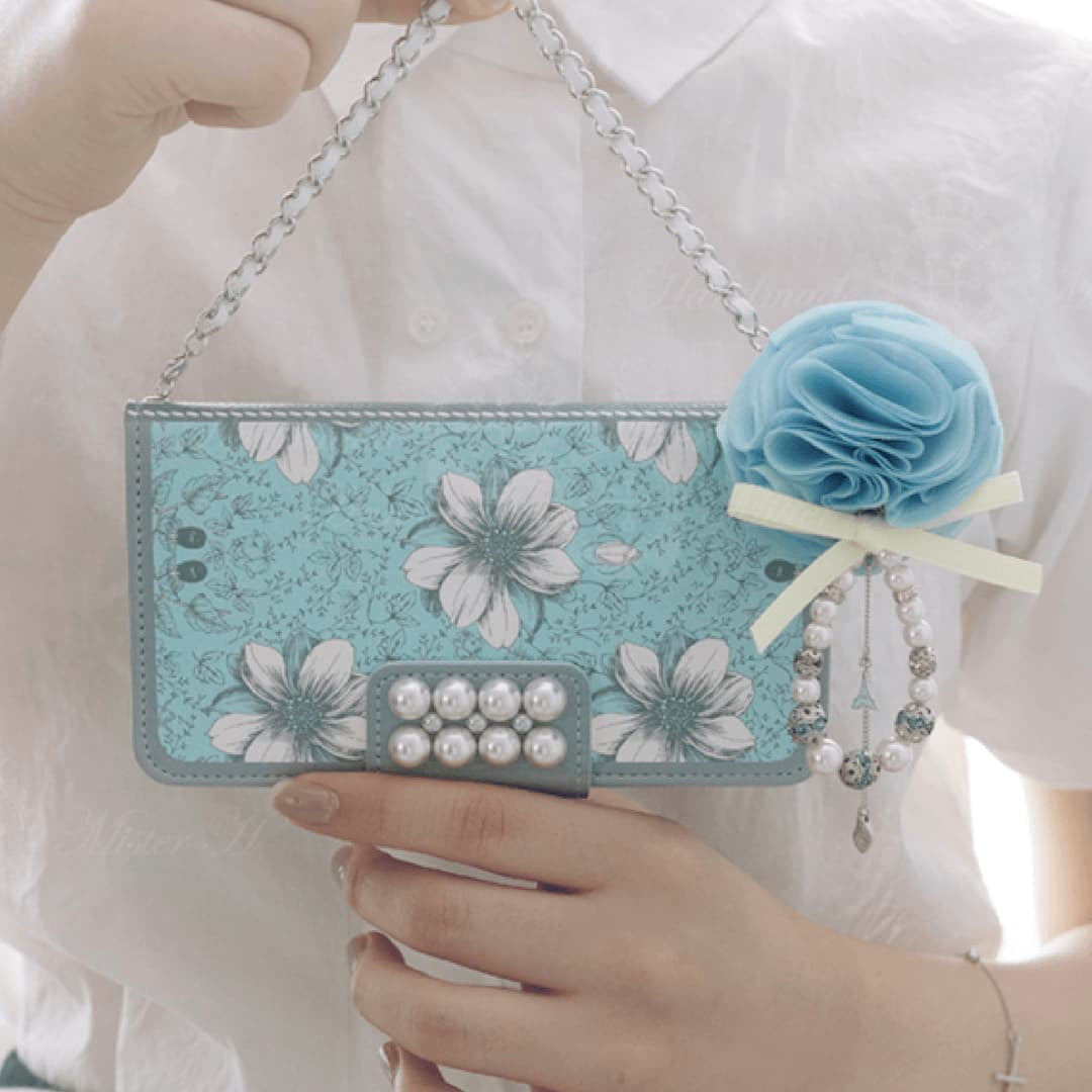 Garden Age Hand Made Wallet Case - Blue - JessicaCollection
