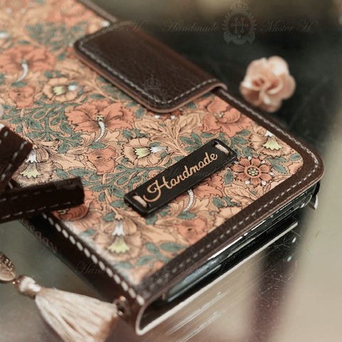 Full Set: Hermosa Hand Made Wallet Case + Gracia Flower String