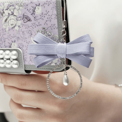 Garden Age Hand Made Wallet Case + Bona Ribbon String - Violet