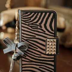 The Zebra Handmade Wallet Case - Grey - JessicaCollection