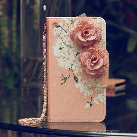 Amy Rosette Hand Made Wallet Case - JessicaCollection