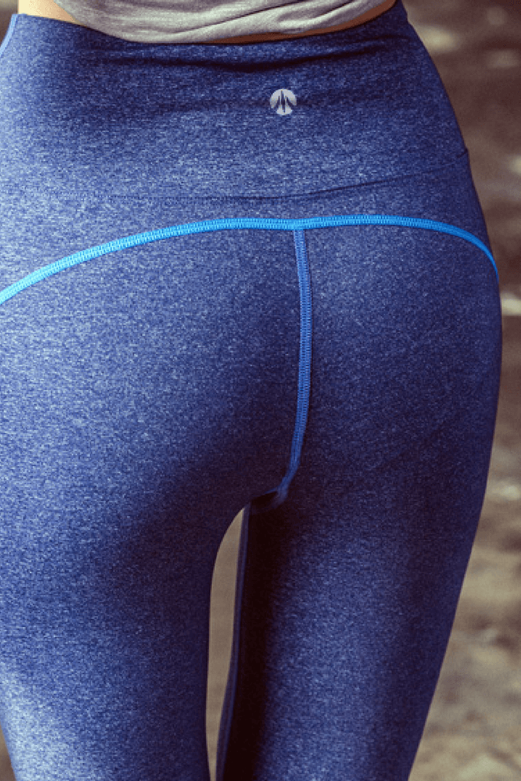 Simple Line 4Way Stretch Yoga Pants - Bocasi Navy - JessicaCollection