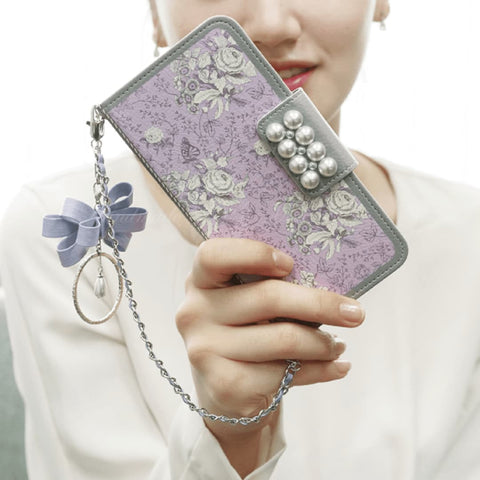 Garden Age Hand Made Wallet Case + Bona Ribbon String - Violet - JessicaCollection