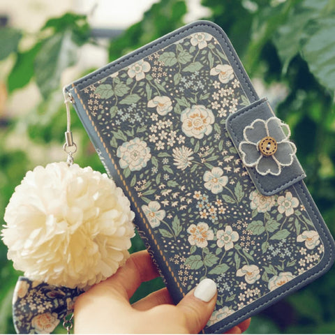 Full Set: Miss Naive Hand Made Wallet Case + Naive Bloom Flower String - JessicaCollection