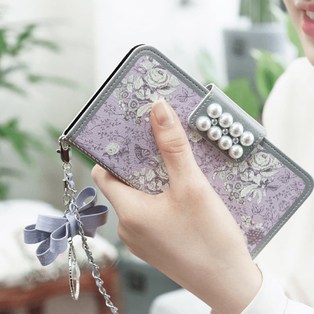 Garden Age Hand Made Wallet Case - Violet - JessicaCollection