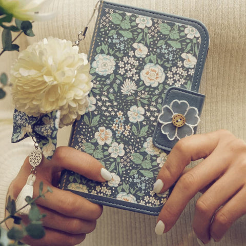 Full Set: Miss Naive Hand Made Wallet Case + Naive Bloom Flower String