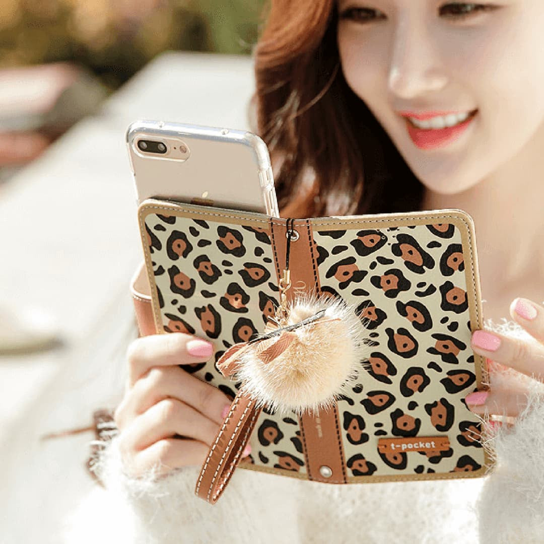Wild Beast Handmade Wallet Case - Brown - JessicaCollection