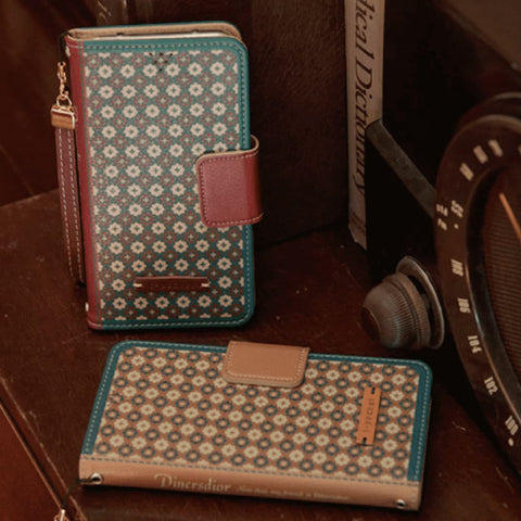 Full Set (Wallet Case + Strap) : Diners Dior Handmade Wallet Case - Brown - JessicaCollection