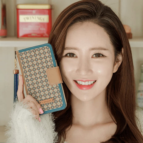 Diners Dior Handmade Wallet Case - Brown - KoreaHallyu