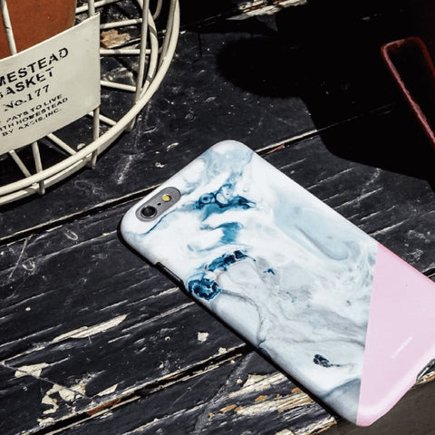 Deep in Pink Marble Effect Back Phone Case (UN-1717)