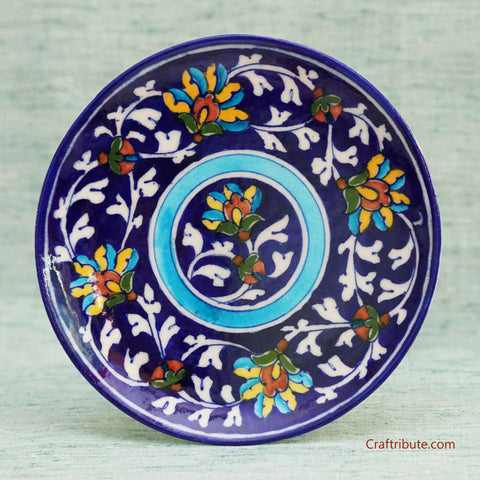Hand Painted Indigo Decorative Plate