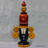 Hand painted wooden Balaji - Angular Crown