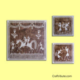 Baraat - textured three piece warli art