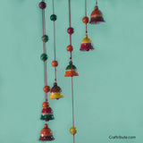 Handcrafted Wooden Bells and Beads Wind Chime