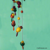 Handcrafted Wooden Birds and Beads Wind Chime