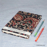 Handmade Paper Notebook With Red Paisley (Kairi) Design