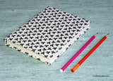 Handmade Paper Notebook with black & white design