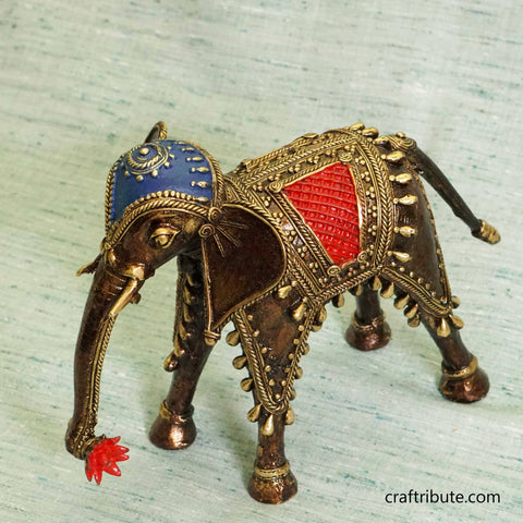 Handcrafted Dhokra Decorative Elephant