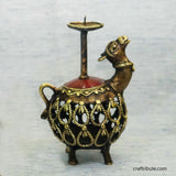 Handcrafted Dhokra Golu Camel Candle Holder