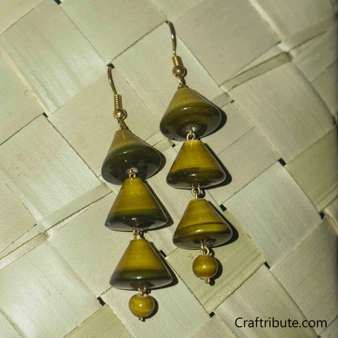 Christmas Tree Shape wooden earrings