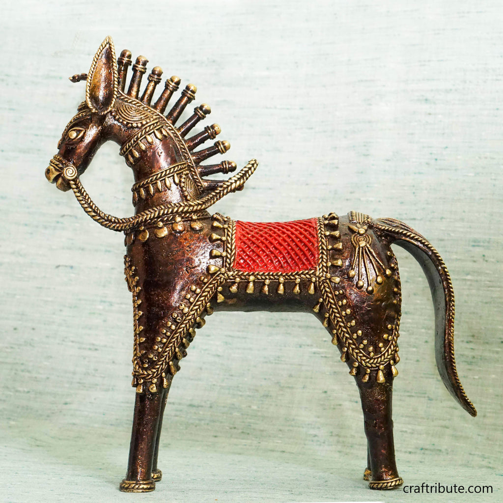 Handcrafted Dhokra Decorative Horse