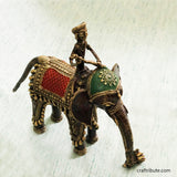 Handcrafted Dhokra Royal Elephant with Rider