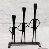 Handcrafted Wrought Iron Family Candle Holder