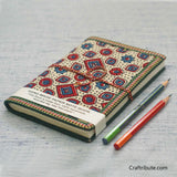 Handmade Paper Notebook with Geometric Design