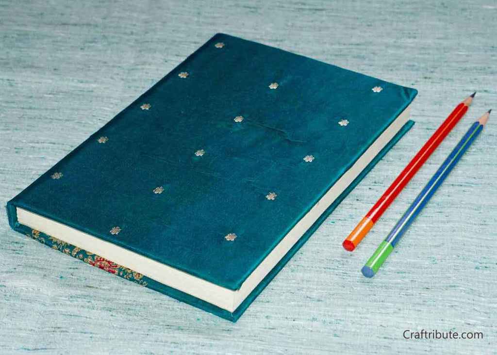 Handmade Paper Notebook with small golden dots