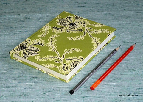 Handmade Paper Notebook with floral design