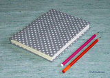 Handmade Paper Notebook with Polka Dots