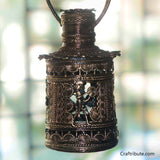 Handcrafted Dhokra Cylindrical Lamp