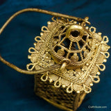 Handcrafted Dhokra Brass Lamp