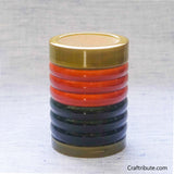 Handmade Wooden Pen Stand with Bangles Design