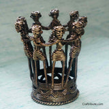 Handcrafted Dhokra Tribal Dance Pen Stand