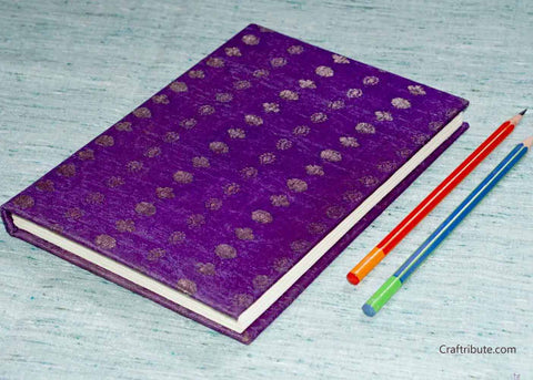 Handmade Paper Notebook with golden dots