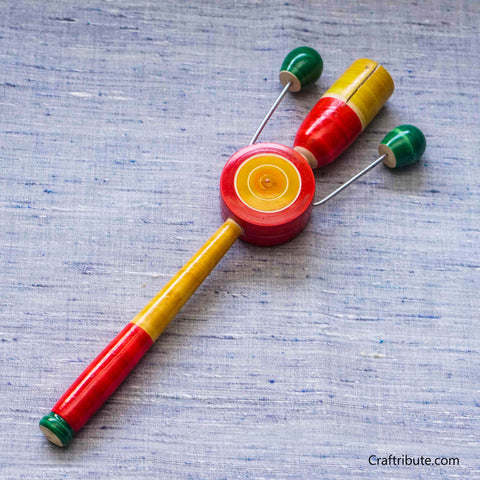 Handmade Wooden Rattle Toy