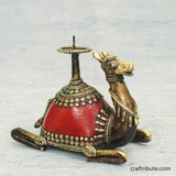 Handcrafted Dhokra Sitting Camel Candle Holder