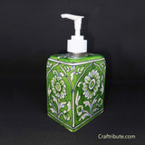 Blue Pottery Handcrafted Soap Dispenser