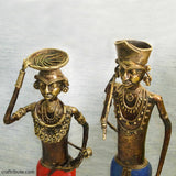 Handcrafted Dhokra Tribal Couple - Big