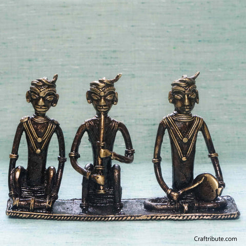 Handcrafted Dhokra (Bell Metal) Musicians set