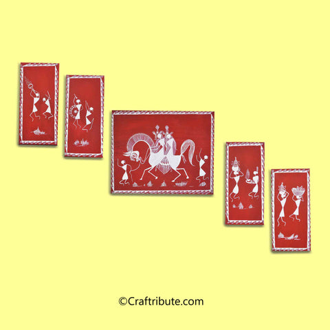 Warli Paintings Set - Baraat