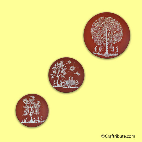Warli Paintings Set - Trees